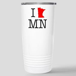 I Love MN Minnesota Stainless Steel Travel Mug