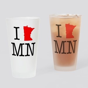 I Love MN Minnesota Drinking Glass