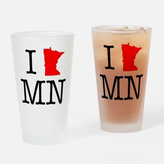 I Love MN Minnesota Drinking Glass