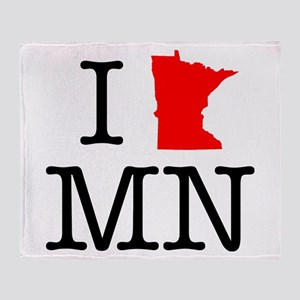 I Love MN Minnesota Throw Blanket