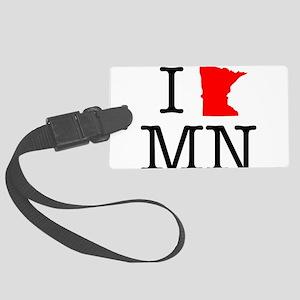 I Love MN Minnesota Large Luggage Tag