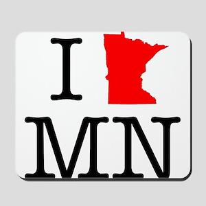 I Love MN Minnesota Mousepad