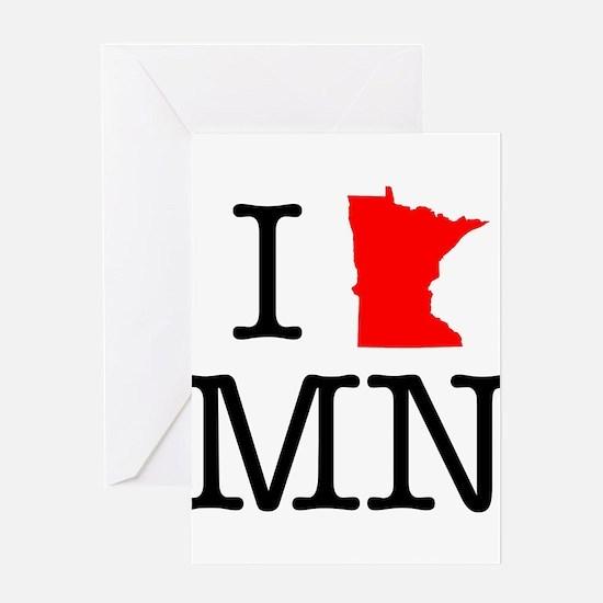I Love MN Minnesota Greeting Card