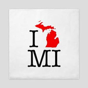 I Love MI Michigan Queen Duvet