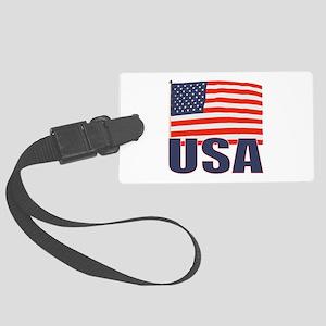 USA flag Large Luggage Tag
