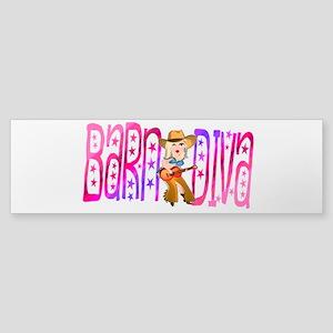Funny Barnyard Diva Sticker (Bumper)