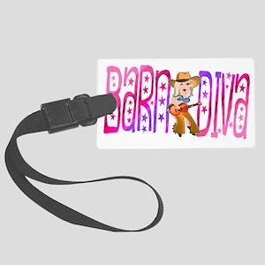 Funny Barnyard Diva Large Luggage Tag