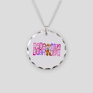 Funny Barnyard Diva Necklace Circle Charm