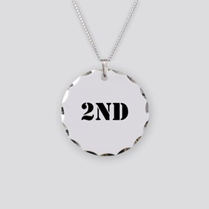 """2nd Amendment"" Necklace Circle Charm"