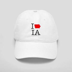 I Love IA Iowa Cap