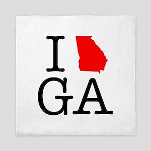 I Love GA Georgia Queen Duvet