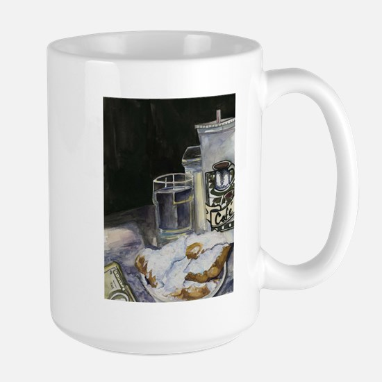 Table of New Orleans Beignets Large Mug