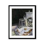 Table of New Orleans Beignets Framed Panel Print