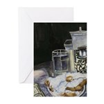 Table of New Orleans Beignets Greeting Cards (Pk o