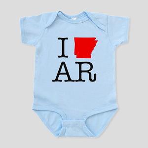 I Love AR Arkansas Infant Bodysuit