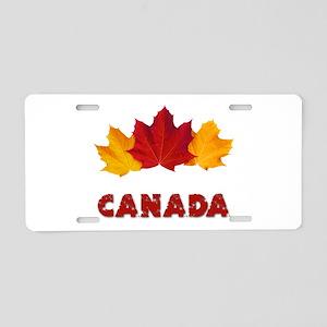 Maple Leaf Celebration Aluminum License Plate