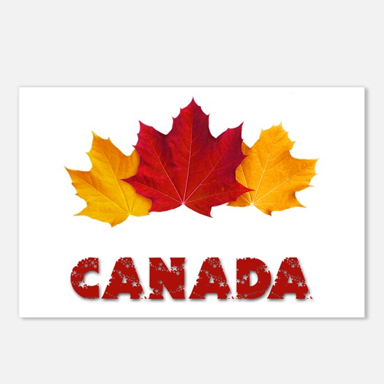 Maple Leaf Celebration Postcards (Package of 8)