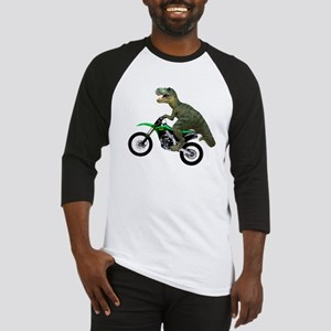 Dirt Bike Wheelie T Rex Baseball Jersey