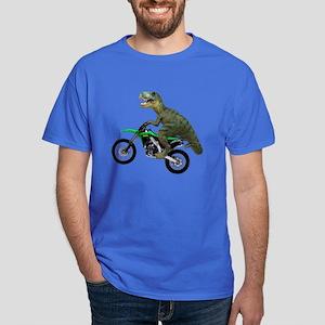 Dirt Bike Wheelie T Rex Dark T-Shirt
