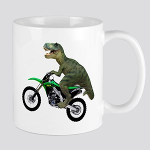 Dirt Bike Wheelie T Rex Mug