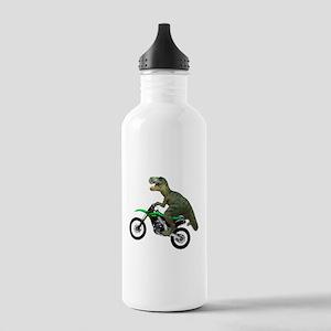 Dirt Bike Wheelie T Rex Stainless Water Bottle 1.0