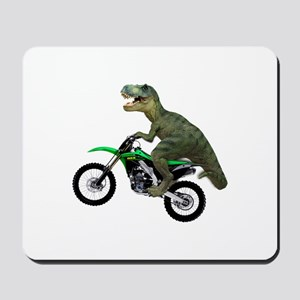 Dirt Bike Wheelie T Rex Mousepad
