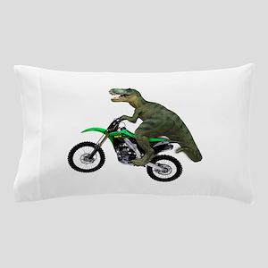 Dirt Bike Wheelie T Rex Pillow Case