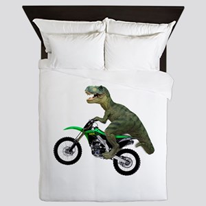 Dirt Bike Wheelie T Rex Queen Duvet