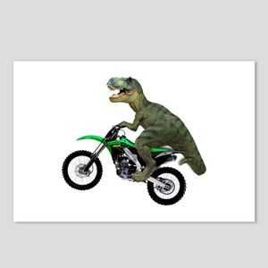 Dirt Bike Wheelie T Rex Postcards (Package of 8)