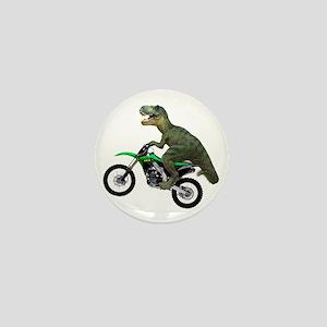 Dirt Bike Wheelie T Rex Mini Button