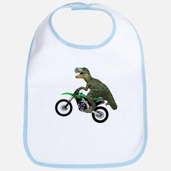 Dirt Bike Wheelie T Rex Bib