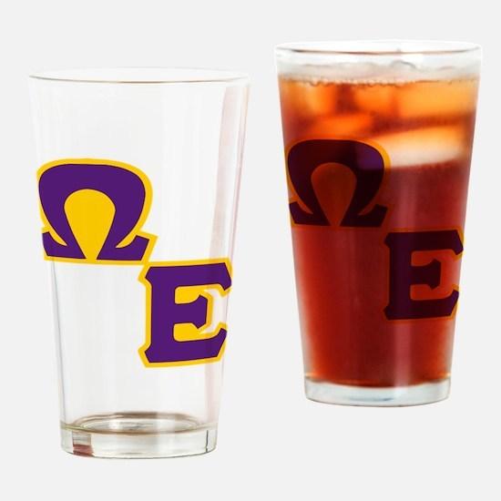 Que E Drinking Glass