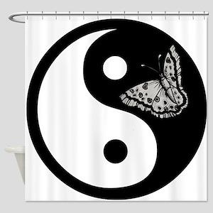 Butterfly Yin Yang Shower Curtain