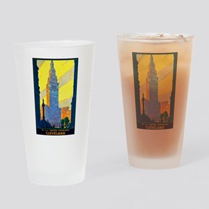 Cleveland Travel Poster 2 Drinking Glass
