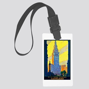 Cleveland Travel Poster 2 Large Luggage Tag