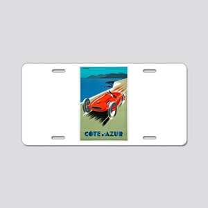 France Travel Poster 1 Aluminum License Plate