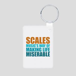 Scales Aluminum Photo Keychain