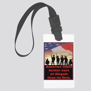 America takes better care Large Luggage Tag