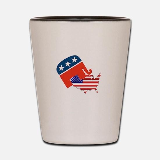 Screwing America Shot Glass