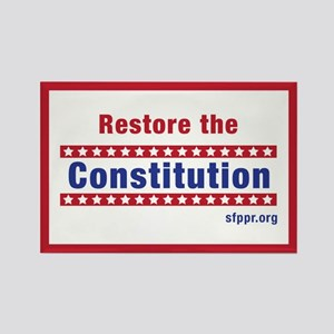 Restore the Constitution Rectangle Magnet