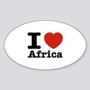 I Love Technology Sticker (Oval)
