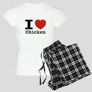 I Love Chicken Women's Light Pajamas