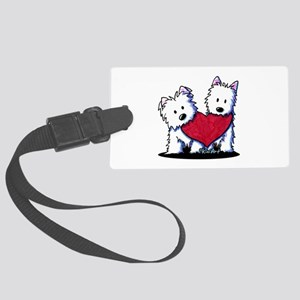 Heartfelt Westies Large Luggage Tag