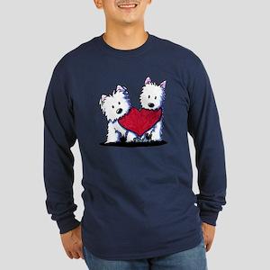 Heartfelt Westies Long Sleeve Dark T-Shirt