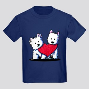 Heartfelt Westies Kids Dark T-Shirt