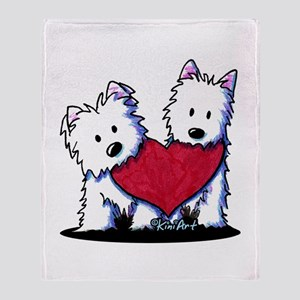 Heartfelt Westies Throw Blanket