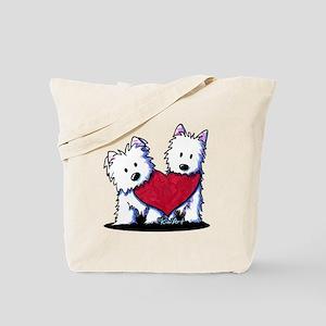 Heartfelt Westies Tote Bag