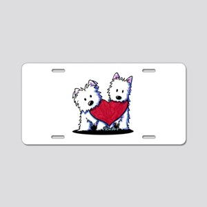 Heartfelt Westies Aluminum License Plate