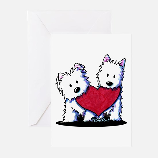 Heartfelt Westies Greeting Cards (Pk of 20)
