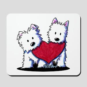 Heartfelt Westies Mousepad